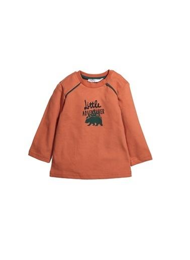 Zeyland Baskılı Omuz Biyeli Sweatshirt (12ay-4yaş) Baskılı Omuz Biyeli Sweatshirt (12ay-4yaş) Oranj
